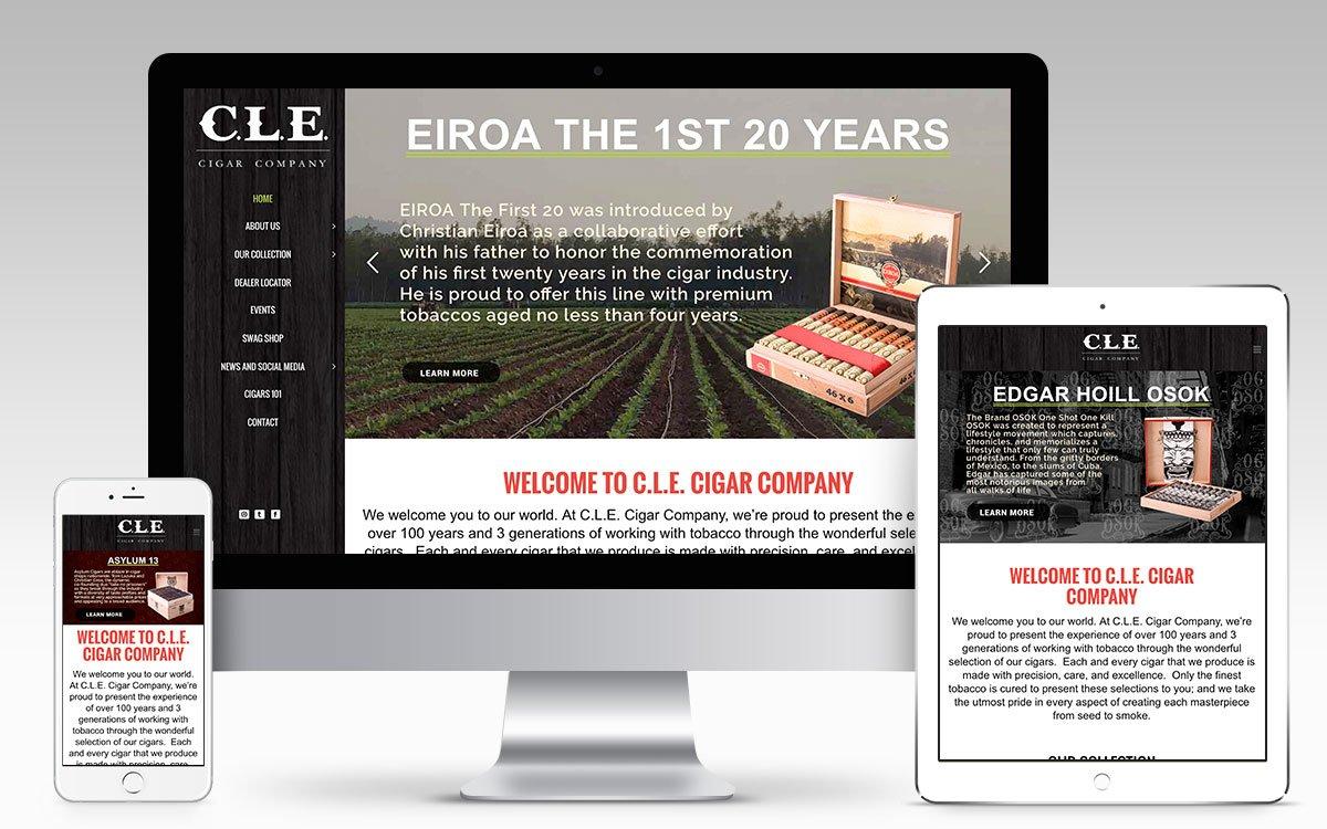 CLE Cigar Company Web Design